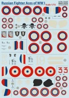 Декали Print Scale Russian Fighter Aces of WW I  Wet decal