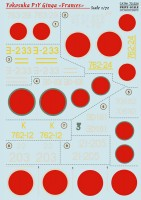 Декали Print Scale Yokosuka P1Y Ginga In the complete set 2 sheets Wet decal