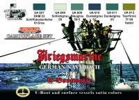 Набор красок Life Color -  GERMAN WWII KRIEGSMARINE SET #2
