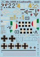 Декали Print Scale  Me 109 F-4 Luftwaffe Part 1 Wet decal