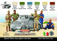 Набор красок Life Color -  ITALIAN WWII REGIO ESERCITO UNIFORMS COLOURS