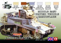 Набор красок Life Color -  MIDDLE EAST BRITISH VEHICLE CAMUFLAGE