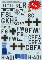 Декали Print Scale Focke-Wulf FW 200 CONDOR Part 2In the complete set 2 sheets Wet decal