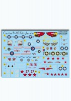 Декали Print Scale Curtiss P-40 Kittehawk Wet decal