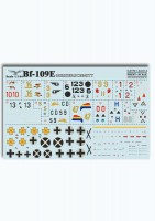 Декали Print Scale Messershmit Me-109 E Wet decal