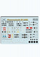 Декали Print Scale Messershmit BF-109 D Wet decal